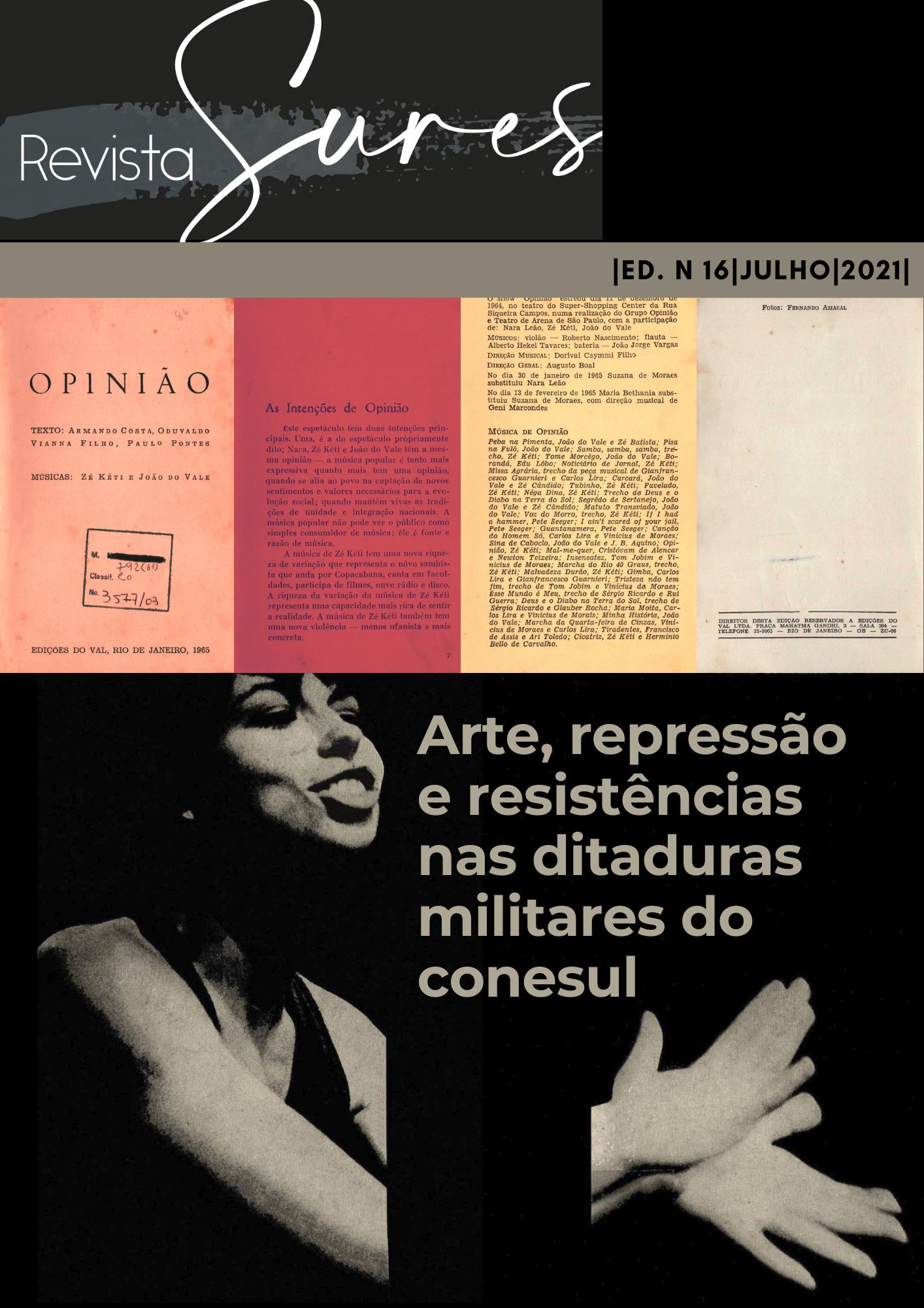 Visualizar v. 1 n. 16 (2021): Arte, repressão e resistências nas ditaduras militares do Cone Sul